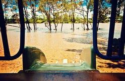Flooding park Stock Image