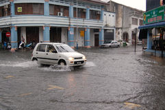 Flooding in Penang, Malaysia Stock Photography