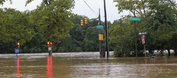 Flooding in Philadelphia Stock Photography