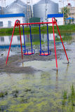 Flooding of the playground Royalty Free Stock Images
