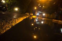 Flooding after a rain stock photos