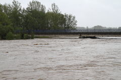 Flooding river Stock Photography
