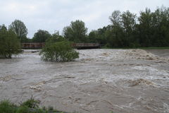 Flooding river Stock Photos