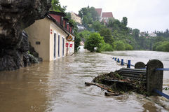Flooding River Royalty Free Stock Images