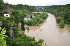 Flooding river Stock Image