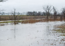Flooding In Road Ditches Stock Photos