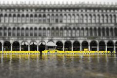 Flooding on San Marco Square royalty free stock photography