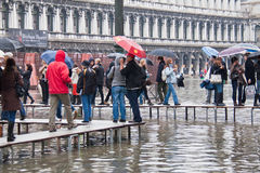 Flooding St Marks Square Stock Images