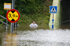 Flooding in Sweden. 31 August 2014 royalty free stock images