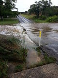 Flooding. In Texas at a low water crossing after the rains in May 2015 royalty free stock photography