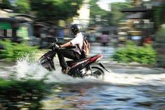 Flooding in Thailand. BANGKOK, THAILAND - NOVEMBER 04: Heavy flooding from monsoon rain in north Thailand arriving in Bangkok on November 04, 2011 in Bangkok Stock Photo