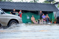 Flooding in Thailand Royalty Free Stock Photo