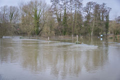 Flooding. UK Winter Floods of 2014 in Cookham Village Royalty Free Stock Photos