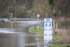 Flooding. UK Winter Floods of 2014 in Cookham Village Stock Photos