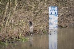 Flooding. UK Winter Floods of 2014 in Cookham Village Stock Photo