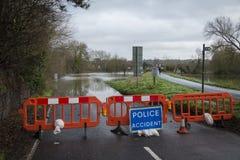 Flooding. UK Winter Floods of 2014 in Cookham Village Royalty Free Stock Photo