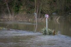 Flooding. UK Winter Floods of 2014 in Cookham Village Royalty Free Stock Image