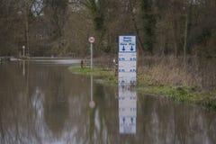Flooding. UK Winter Floods of 2014 in Cookham Village Stock Images