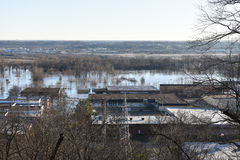 Flooding in Valley Park, Missouri Stock Photo