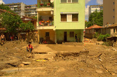 After flooding Asparuchovo Bulgaria June 19 Stock Photo