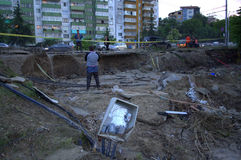 Flooding in Varna,Bulgaria June 19th Stock Photo