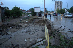 Flooding in Varna,Bulgaria June 19th Royalty Free Stock Photo