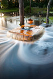 Flooding well. A long exposure photo of an old flooding well and a sweep with timber bucket Stock Images