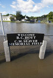 Flooding Williamstown Vermont : Hurricane Irene. The local little league field in Williamstown Vermont, and other parts of the tiny Vermont town were left Stock Photos