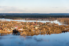 Flooding after the winter. Flooding after winter when the ice has melted Stock Images