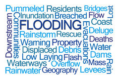 Flooding Word Cloud Royalty Free Stock Photography
