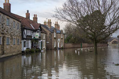 Flooding - Yorkshire - England Royalty Free Stock Photo