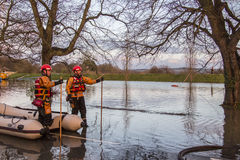 Flooding - Yorkshire - England. Flooding after the River Derwent burst its banks in the village of Old Malton in North Yorkshire in northeast England.  (27th Royalty Free Stock Image