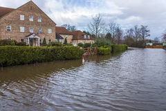 Flooding - Yorkshire - England Royalty Free Stock Image