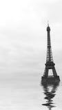 Floodings в Париже Стоковые Изображения