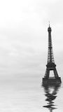 Floodings in paris Stock Images