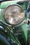 Floodlight. A floodlight of a old english roadster royalty free stock photos