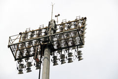 Floodlight. An image of a stadium floodlight stock image