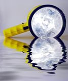 Floodlight. Rechargeable Floodlight reflective Stock Image