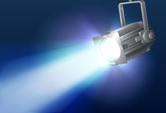 Floodlight. Background with floodlight, with realistic light Royalty Free Stock Photos