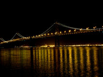 Floodlight Bay bridge Royalty Free Stock Images