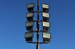 Floodlight and blue sky Royalty Free Stock Photo