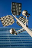 Floodlight and building Stock Photo