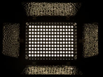 Floodlight, consisting of 160 white LEDs with a color temperature of 5500K Stock Image