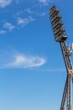 Floodlight mast of a sport stadium. Old floodlight mast of a sport stadium Stock Image