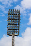 Floodlight mast of a sport stadium. Old floodlight mast of a sport stadium Royalty Free Stock Photo