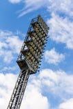 Floodlight mast of a sport stadium. Old floodlight mast of a sport stadium Stock Images