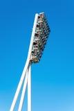 Floodlight pole. A floodlight pole of a football stadium Royalty Free Stock Photo