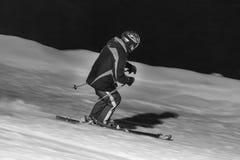 Floodlight ski in black and white. Some floodlight ski in black and white Stock Photos
