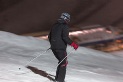 Floodlight ski in winterberg germany Royalty Free Stock Image