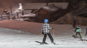 Floodlight ski in winterberg germany Royalty Free Stock Photo